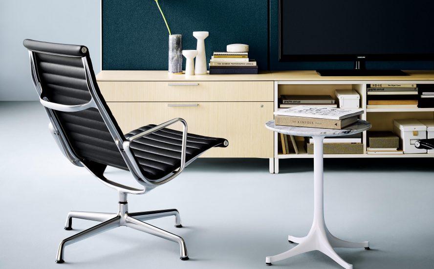 herman miller chair lounge eames aluminum quasi modo modern