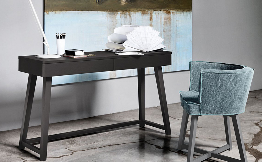 Gervasoni Table Desk Gray 50 Quasi Modo Modern Furniture