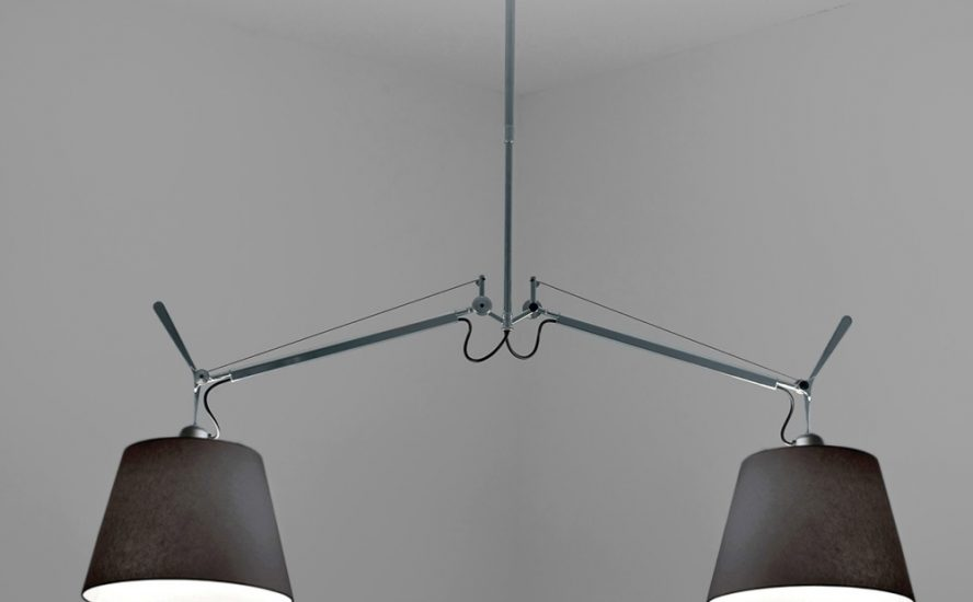 Artemide suspension lamp tolomeo double shade quasi modo for Luminaire double suspension