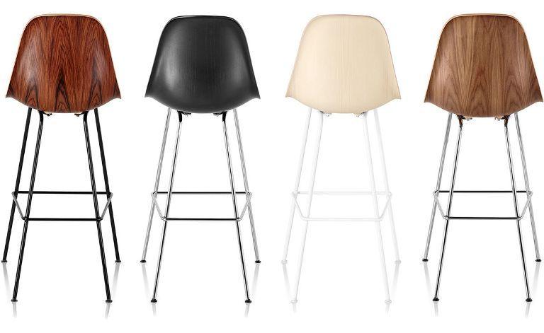 Groovy Herman Miller Eames Molded Wood Stools Quasi Modo Modern Machost Co Dining Chair Design Ideas Machostcouk