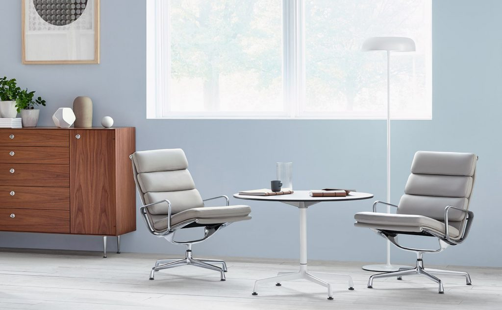 Herman Miller Eames Soft Pad Lounge And Ottoman
