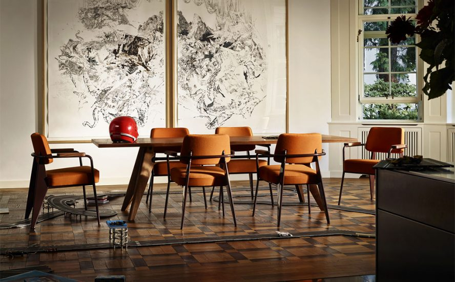 Vitra table dining em quasi modo modern furniture toronto for Modern dining chairs toronto